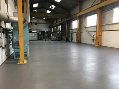 6mm PU resin screed - Heavy Industrial Sector